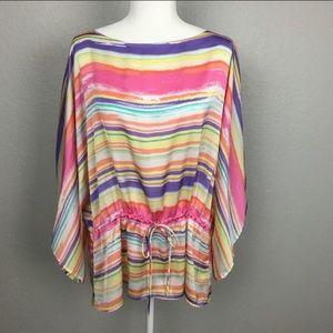 Chaps summer striped kimono sleeve blouse